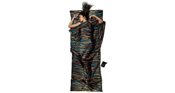 Cocoon - Drap sac de couchage soie - bleu/noir